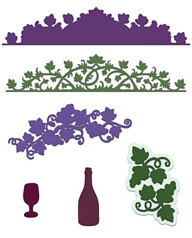 Нож «Italiana Grape Clusters Die»