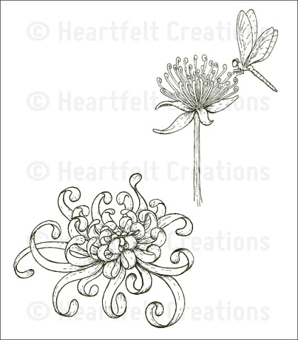 Штамп «Enchanted Mum Clusters Cling Stamp Set»