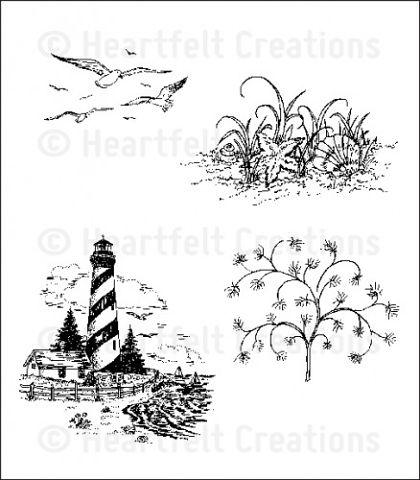 Штамп «Sand and Sea Cling Stamp Set»