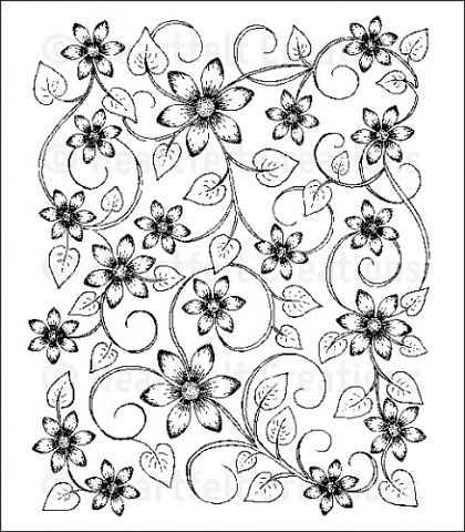 Штамп «Sun Kissed Fleur Background Cling Stamp Set»