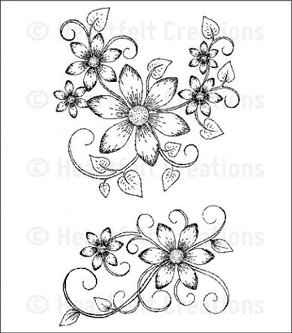 Штамп «Sun Kissed Fleur Swirls Cling Stamp Set»
