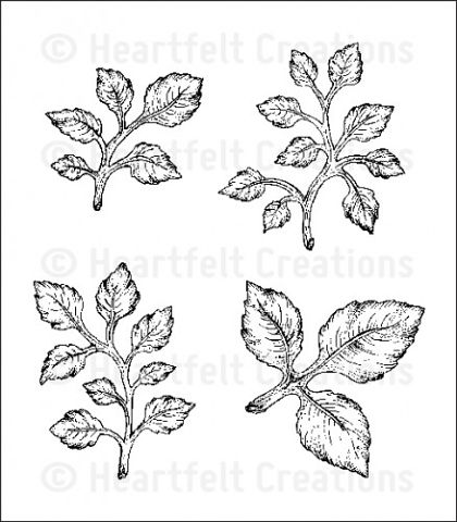 Штамп «Open Leaf Cling Stamp Set»