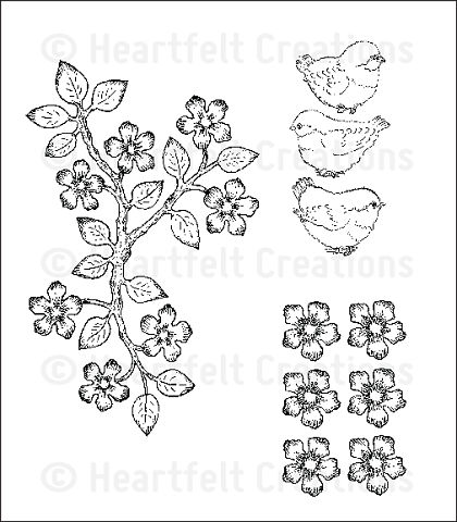 Штамп «Birds and Blooms Cling Stamp Set»