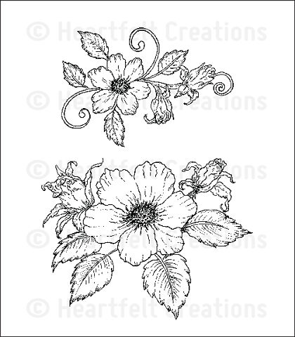 Штамп «Botanical Rose Bouquet Cling Stamp Set»
