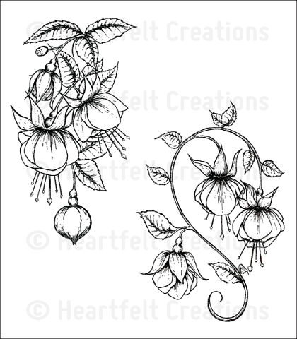 Штамп «Fuchsia Clusters Cling Stamp Set»