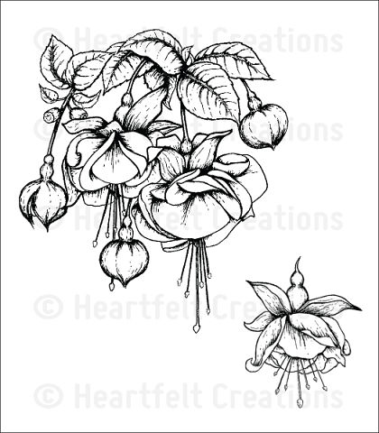 Штамп «Fuchsia Bouquet Cling Stamp Set»