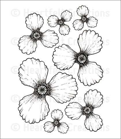 Штамп «Blazing Poppy Petals Cling Stamp Set»