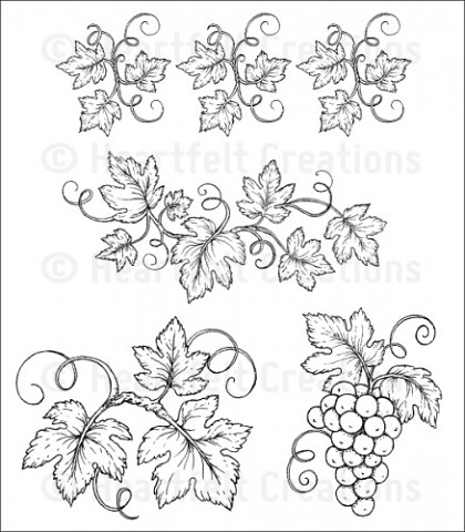 Штамп «Italiana Grapevines Cling Stamp Set»