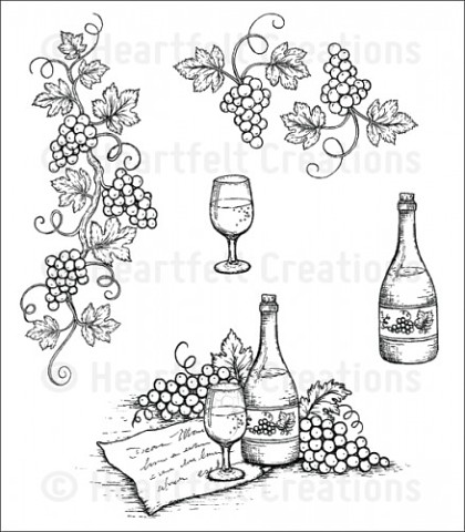 Штамп «Italiana Grape Clusters Cling Stamp Set»