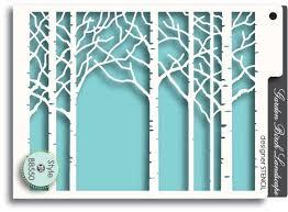 Трафарет «Birch Landscape»