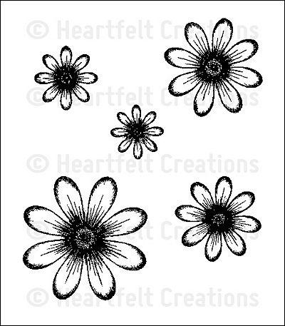 Штамп «Цветы — HCPC 3318»