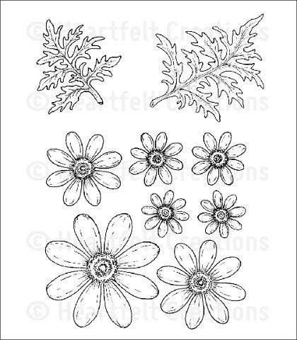 Штамп «Цветы и листочки — HCPC3656»
