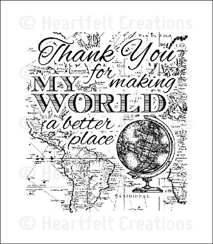 Штамп «My World Cling Stamp Set»