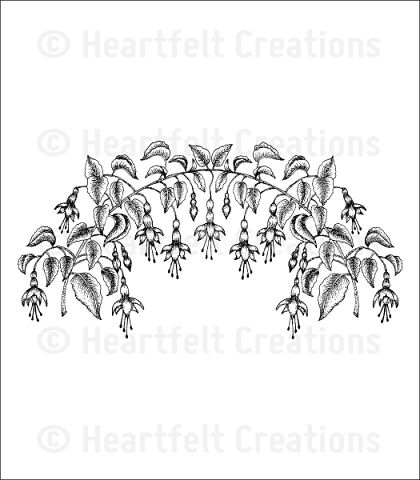 Штамп «Vining Fuchsia Cling Stamp Set»