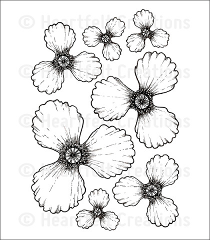 Штамп «Blazing Poppy Petals Cling Stamp Set»