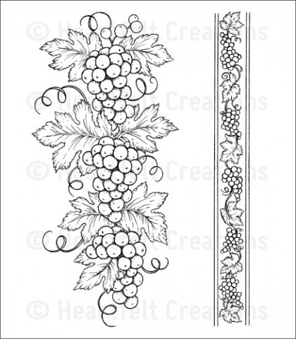 Штамп «Italiana Grape Borders Cling Stamp Set»